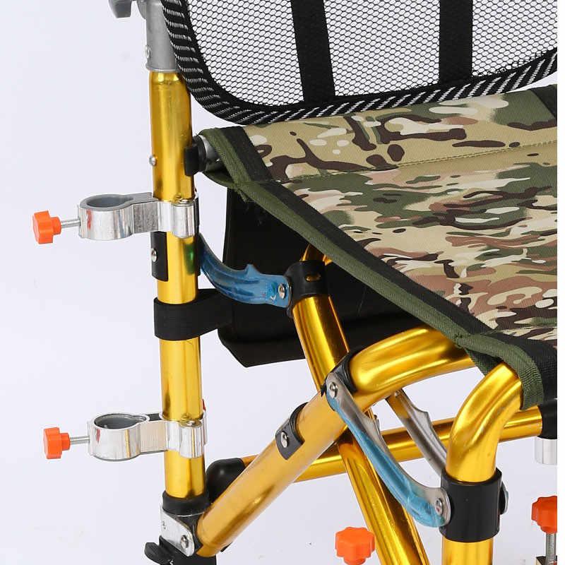 2019 Nova Liga de Alumínio Cadeira De Pesca Suporte Da Lâmpada de Luz de Pesca Estande Luz Conector Bracket Pesca Ferramenta Acessório