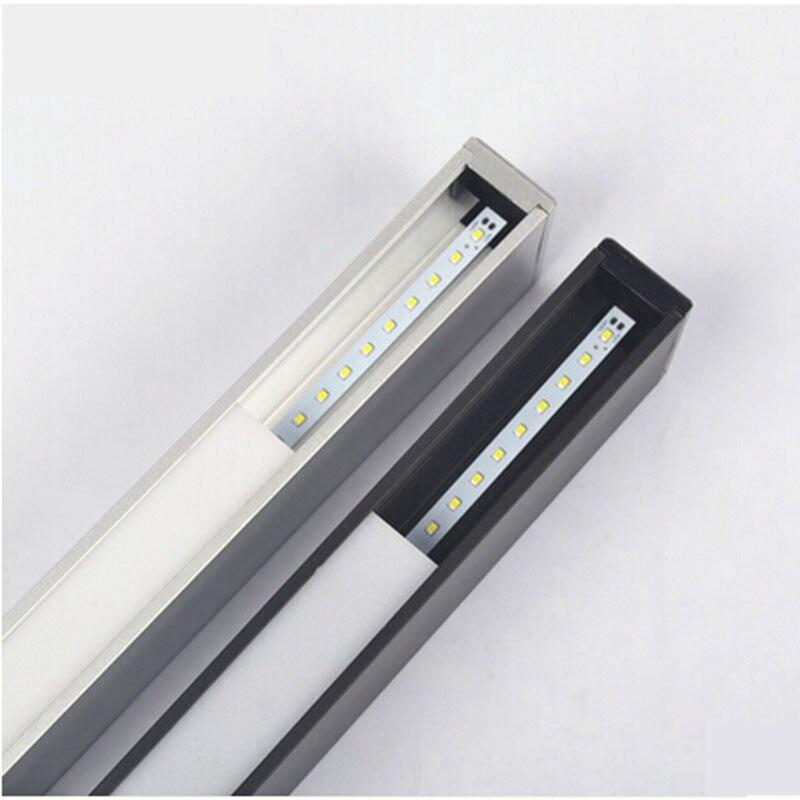 Z moderne en aluminium puce LED suspension lampe ingénierie suspendus fil bande luminaire pour bureau conférence salle étude lampe - 5