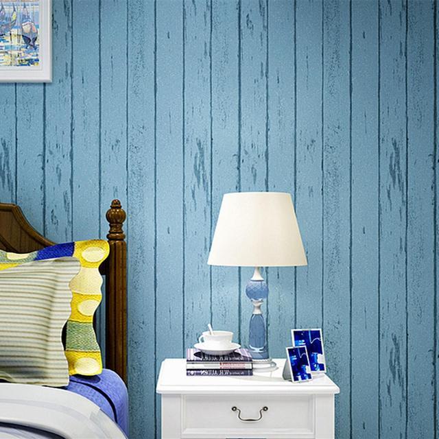 3d خلفيات الخشب الحبوب للجدران أزرق أبيض مقلم خلفيات غير المنسوجة نوم غرفة المعيشة خلفية التلفزيون الحديثة