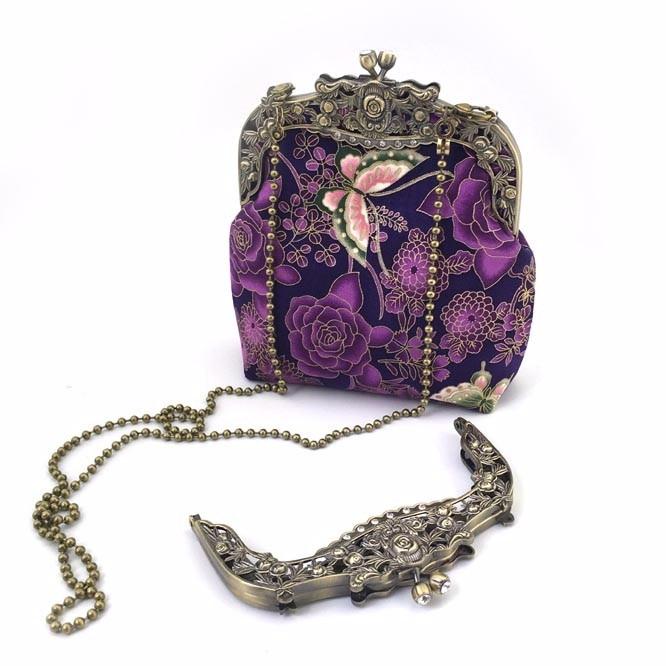 2016 Fashion Elegance Metal Purse Frame Handle Screws Size 16cm Antique Brass Metal Purse Frame Bag Part China Factory Supply