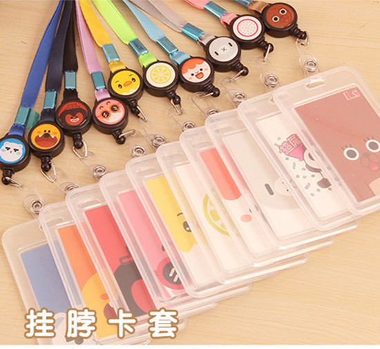 1pcs Assorted Colors Retractable Stretchable Badge Reel Lanyard ID Name Card Badge Holder Tag For Nurse Office School