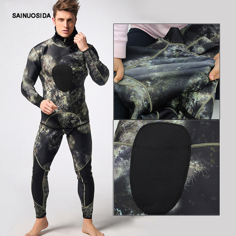 Men s 3MM Neoprene Wetsuits Bodysuit Full Body Scuba Dive Diving Wet Suit  Winter Swim Warm Surf 9f31e46df