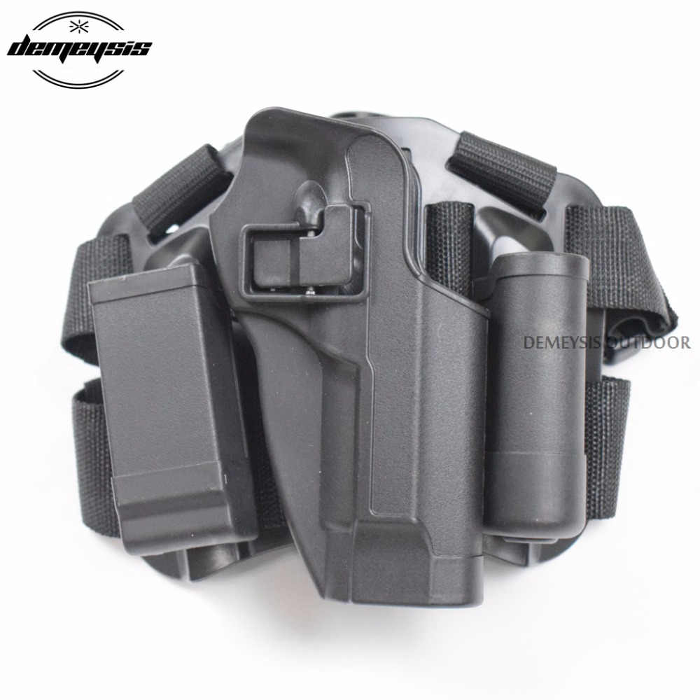 Tactical Military Right Leg Paddle Belt Thigh Hand Drop Holster for beretta m9 92 tactical 1911 leg holster right thigh paddle belt level 3 lock duty pistol gun holster w magazine torch pouch for colt 1911