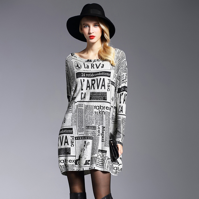 XIKOI Oversize Sweater Woman Fashion Letter Print Batwing Sleeve Pullovers Slash Neck Pullovers Computer Knitted Sweaters Female 3
