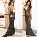 New sexy hot lingerie pole dance vestido longo backless sexy perspectiva lingerie sexy lingerie erótica lenceria sexy trajes 074