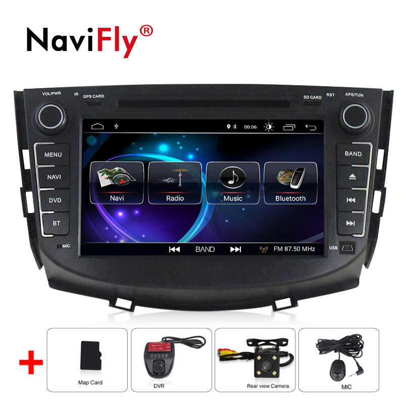 NaviFly Android 8.1 car radio gps for Lifan X60 with dvd multimedia stereo player 8 inch 2 din head unit 1080P HD 2 Din WIFI FM