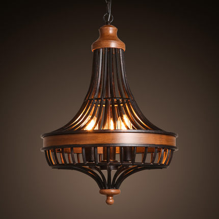 South East Asian Style Retro Matal Pendant LampTea House Lamp Bird Cage  Shade Restaurant Light Free