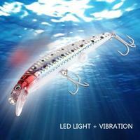 2 stücke LED Licht Fischköder Drillings Elektronische Angeln Lampe Köder Lockt