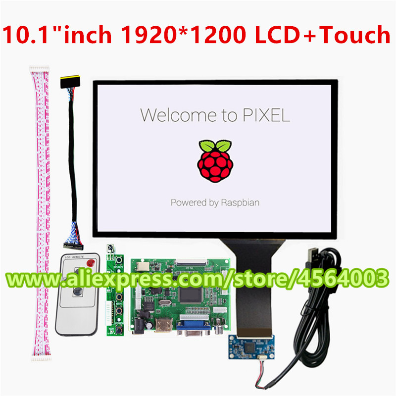 10.1 inch IPS screen <font><b>display</b></font> <font><b>Capacitive</b></font> touch B101UAN02.1 LCD monitor Controller board for <font><b>raspberry</b></font> <font><b>pi</b></font> arduino pcb driver board image
