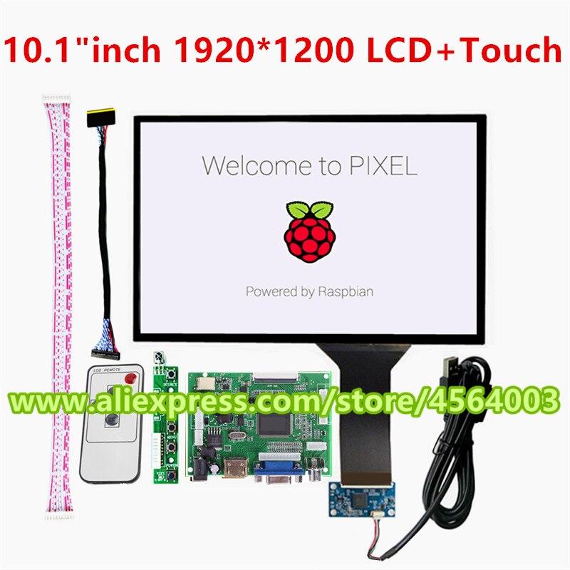 10.1 pouces IPS écran écran tactile capacitif B101UAN02.1 LCD moniteur contrôleur carte pour raspberry pi arduino pcb carte pilote