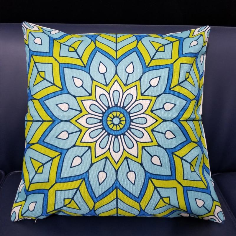Geometric Cushion Cover Decorative Pillows Print Sofa Car Cotton Linen Decoration Pillowcase Green Cushion Pillow Cover for Sofa in Cushion Cover from Home Garden