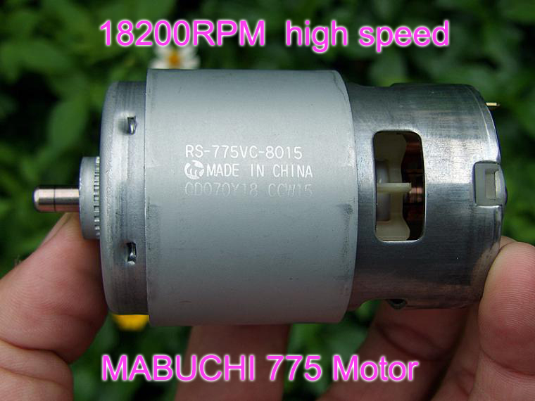 MABUCHI RS 775VC 775 8015 sierra eléctrica Motor de alta velocidad cc 12V 18V 18200RPM potencia nominal 208W-in Monitor DC from Mejoras para el hogar on AliExpress
