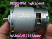 Mabuchi RS 775VC 775 8015 elétrica furadeira viu motor de alta velocidade dc 12 v 18 v 18200 rpm potência nominal 208 w