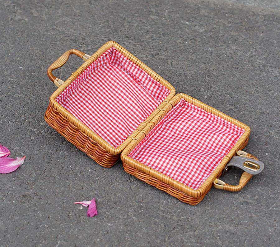 bloqueio ferrolho artesanal tecido tote sacos de
