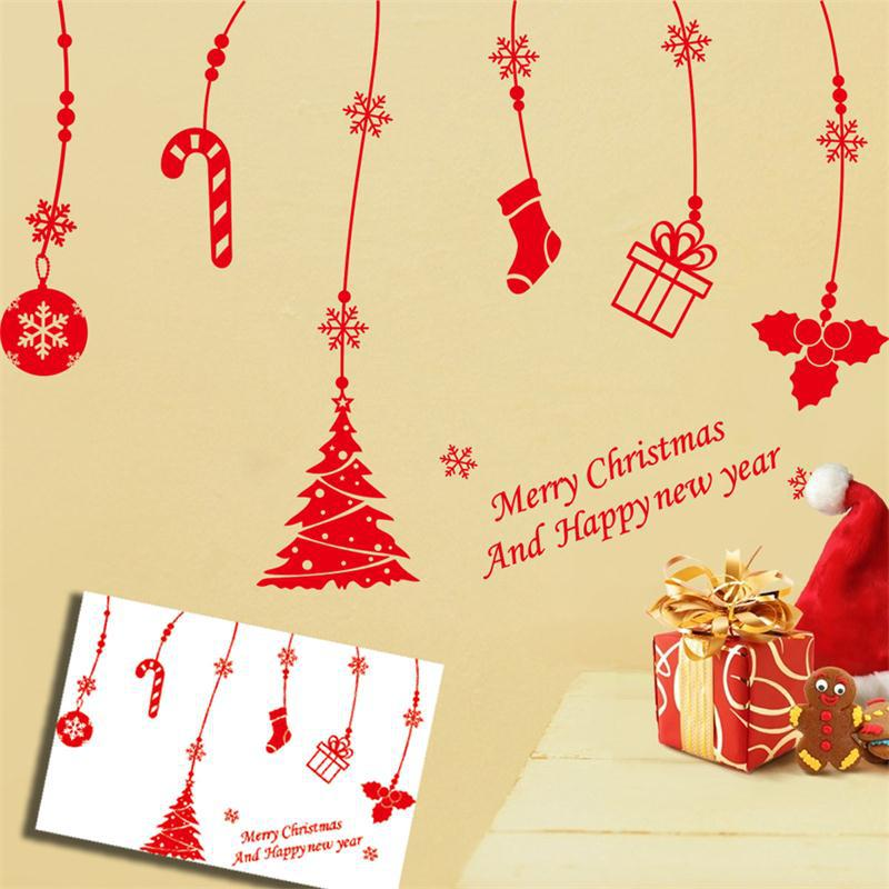 Merry Christmas Happy New Year Snow Flower Bells Gifts
