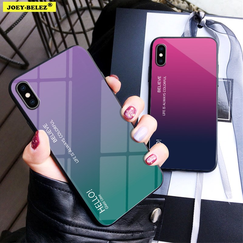 COVER per Iphone 7 8 / Plus ORIGINALE Gradient Glass con RETRO