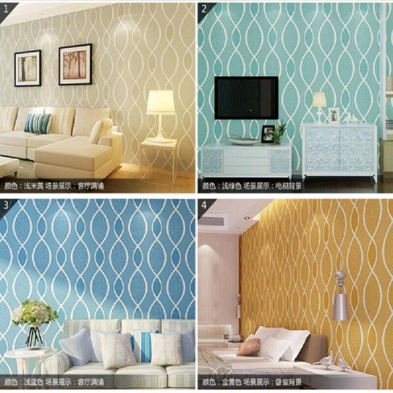 Papier peint Mural en tissu de haute qualité 3D papier peint de forme géométrique moderne papier peint de décoration papier peint papel de parede tapete 53x1000 cm