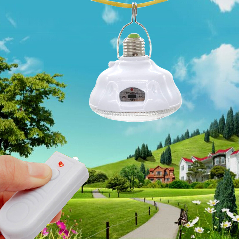 24 LED Remote control +AC/DC switch emergency lighting solar light E27 garden decoration Led solar lamp + 0.8W solar panel