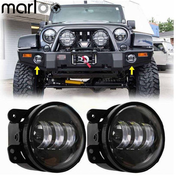 2014 Jeep Wrangler Front Bumper | Marloo Pair 4Inch Led Fog Lights For Jeep Tractor Boat Led Fog Offroad Lamp For Jeep Wrangler Dodge Chrysler Front Bumper Lights