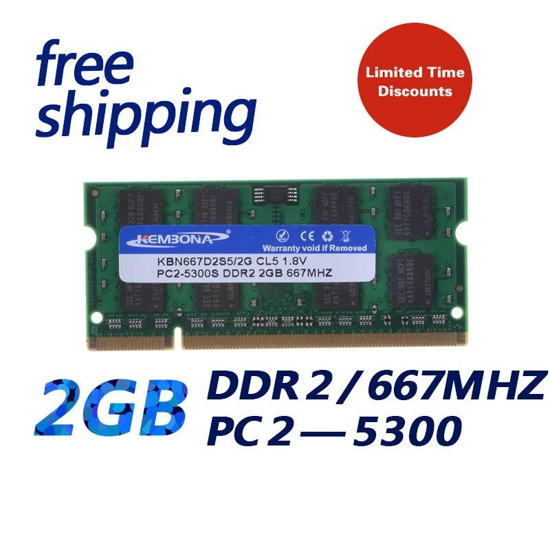 KEMBONA Laptop RAM Für Samsung DDR2 2 GB 667 mhz PC2-5300 notebook-speicher 200PIN original