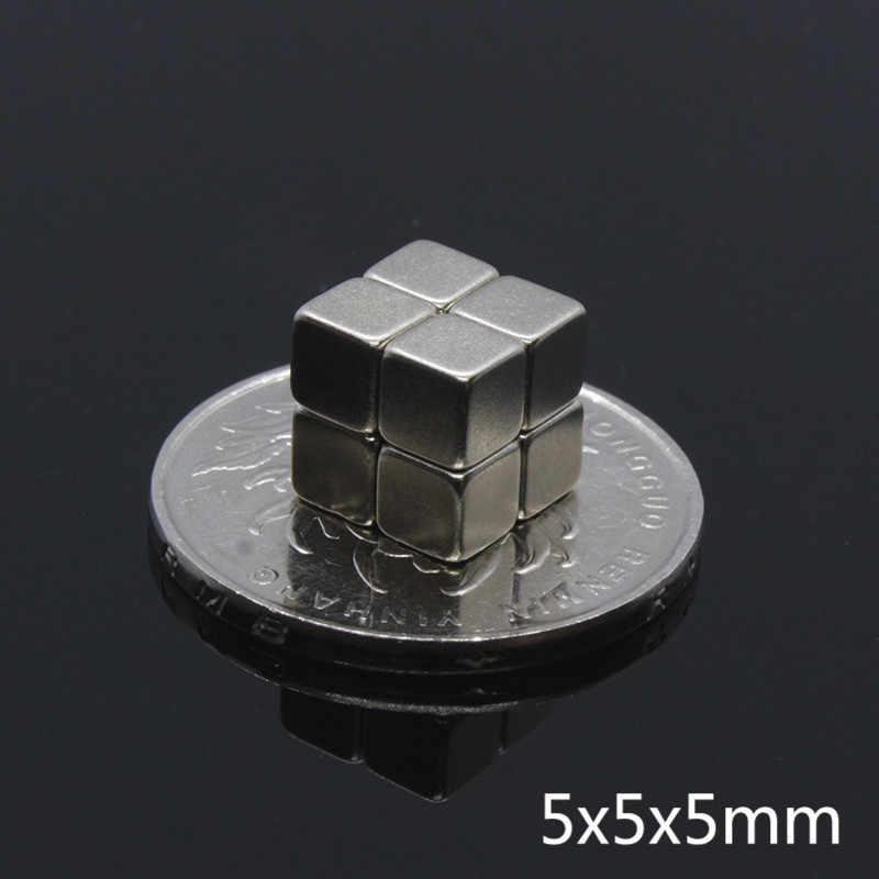 10pcs Rubik's cube Neodymium magnet 5x5x5 Rare Earth small Strong block  permanent magnet toys Magic Magnetic