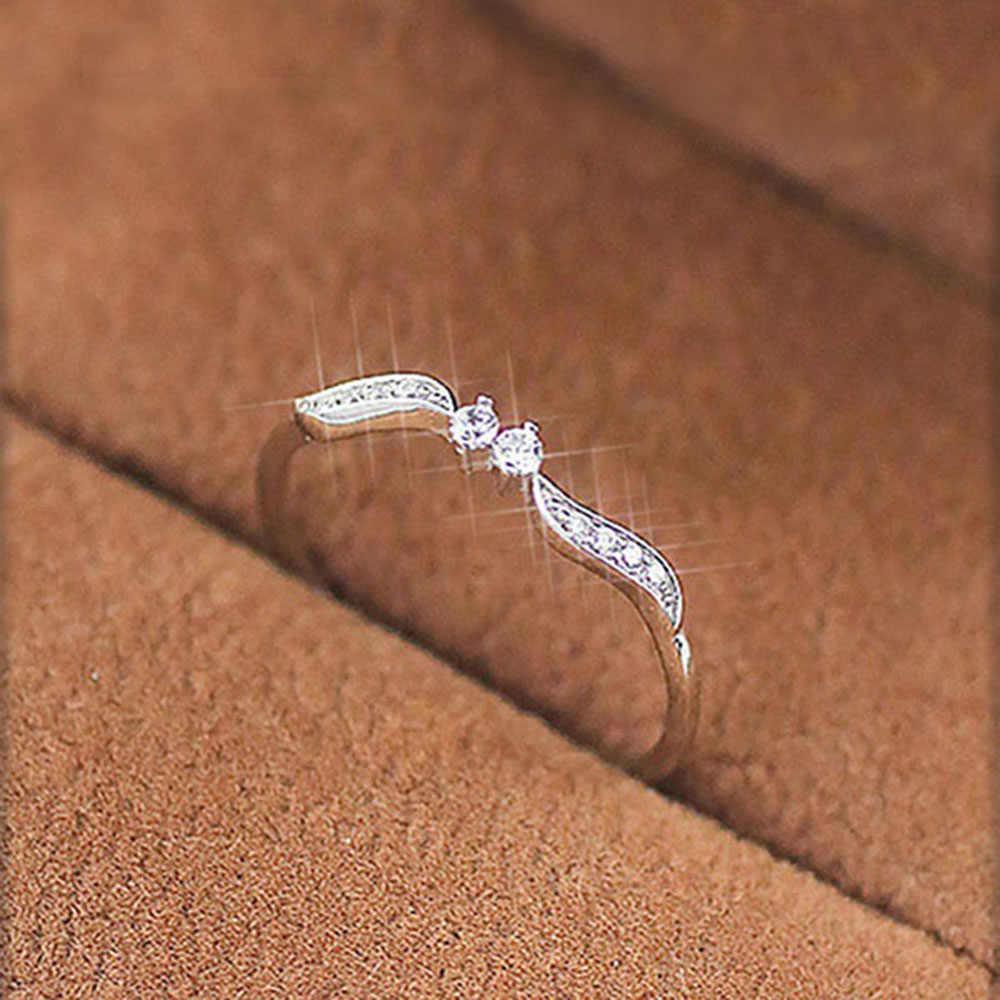 IPARAM خاتم أنيق ذهبي فضي اللون حجر الراين خاتم سيدة الهندسة ليف كريستال مجوهرات 2018 الاتجاه حلية مجوهرات الحفلات هدية