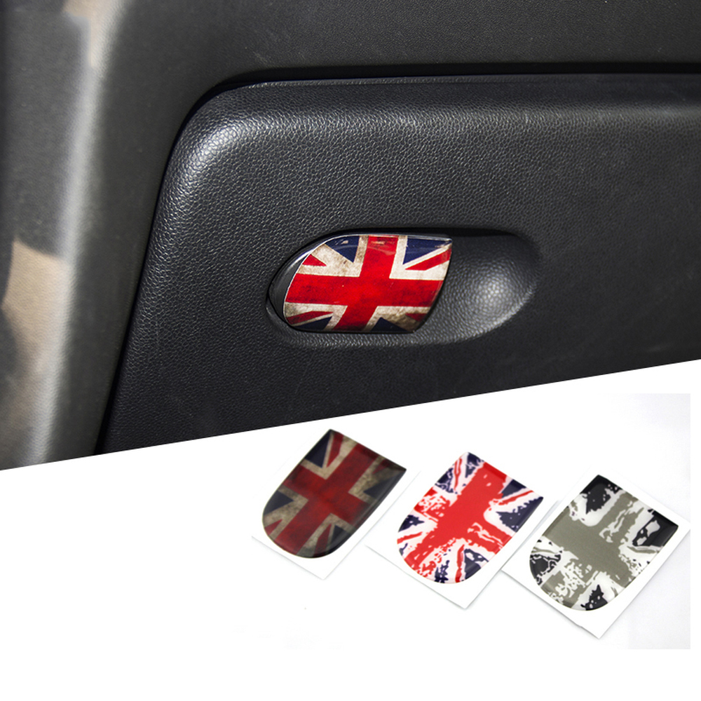 Union Jack Glove Box Handle Sticker Storage Box Clasp Hand Sticker Decal Car Styling For BMW Mini Cooper JCW F55 F56 Accessories