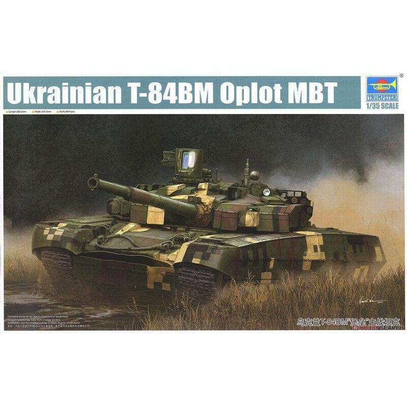 1/35 trumpeter 09512 ยูเครน T 84BM Oplot MBT รุ่น hobby-ใน ชุดการสร้างโมเดล จาก ของเล่นและงานอดิเรก บน   1