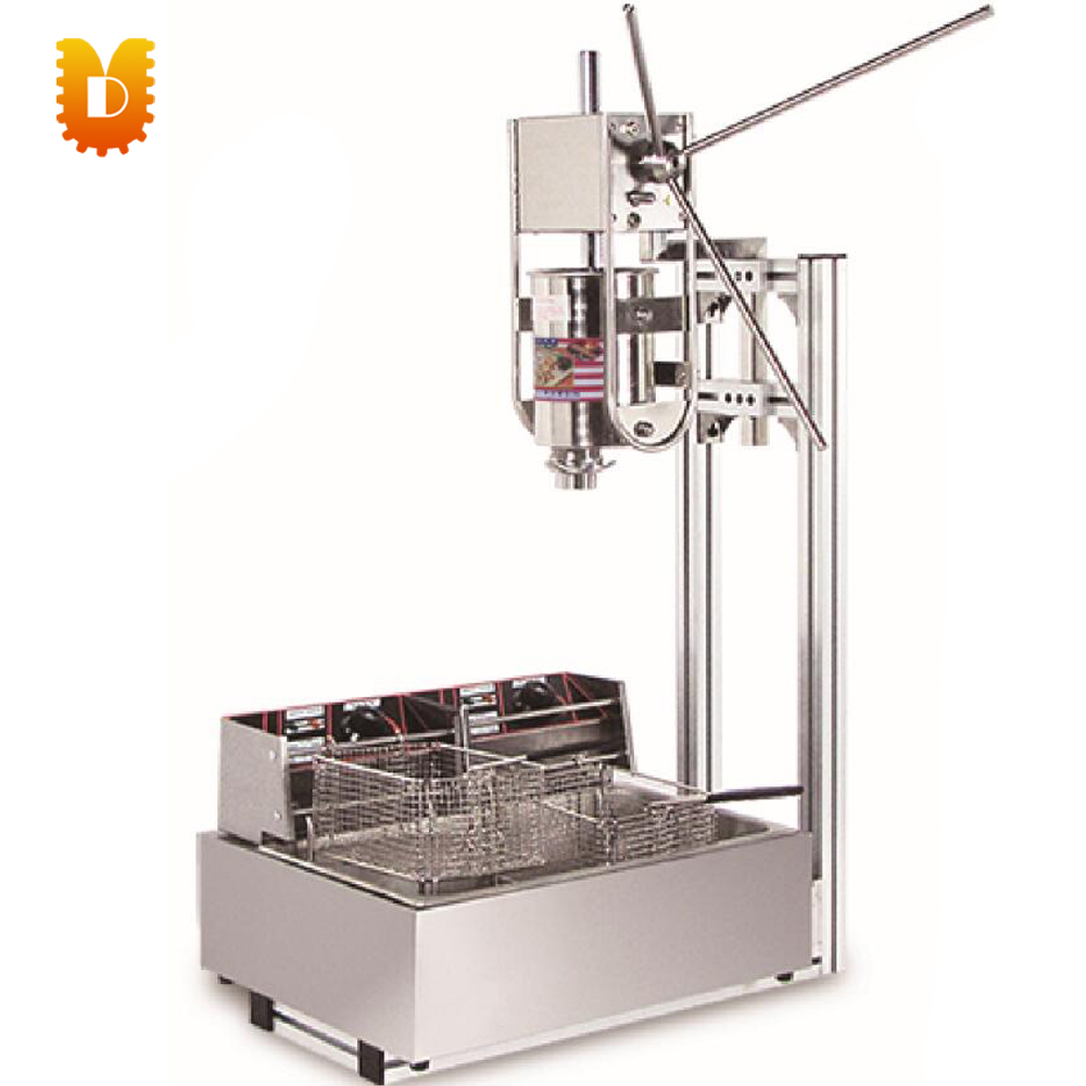 12L electrical 3L fryer Spain churros maker/churros making machine 5 pcs electrical spain spanish churros making machine