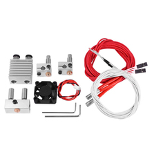 цена на Dual Input Dual Nozzle Reprap 3D Printer Bowden Printhead Two Into Two Out Extruder Kit + Volcano Block Nozzle Hot End Kit