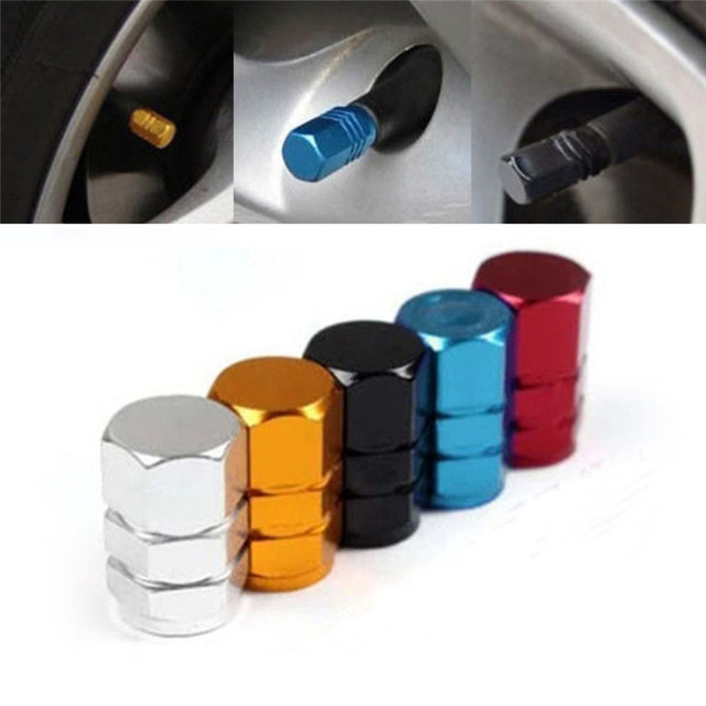 2017 New 4pcs Theftproof Aluminum Car Wheel Tires Valves Tyre Stem Air Caps Airtight Cover hot selling high quality car-styling