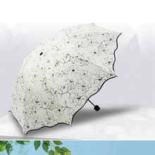 Folding umbrella Flower UV protection Sun Three-folding Umbrella For Women