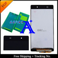 Full set Glue 100% tested original For Sony Xperia Z2 D6502 D6503 D6543 LCD Screen Digitizer Assembly - Black Free shipping