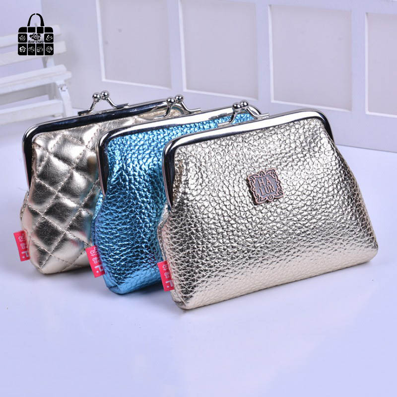 ROSEDIARY Fashion luxury gold Women Cute Coin Purse Leather Wristlet lady Wallet Girls Change Pocket Pouch Hasp Bag Keys Case стоимость