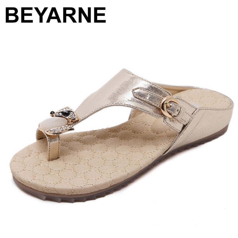 BEYARNE 2018 New Slip On Women Sandals Fashion Flip Flops Women Shoes Summer Non-slip Ladies Shoes summer fashion sandals women shoes non slip hook