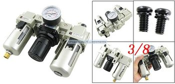 Free Shipping 2PCS/Lot SMC AC3000-03 Metal Air Source Treatment Unit Filter Regulator 3/8'' With Cover