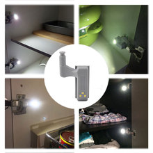 BORUIT Universal Kitchen Bedroom Living Room Cabinet Cupboard Closet Wardrobe Hinge LED Night Light White Warm System 10pcs/lot
