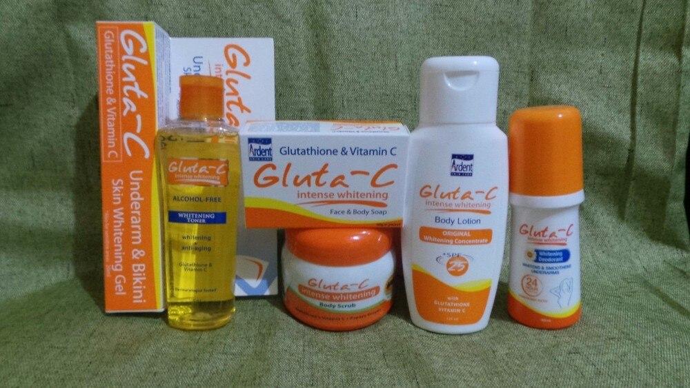 Nouveau lot de 6 crèmes pour le glutathion blanchissant Intense Gluta C Lotion Toner, savon de papaye livraison gratuite