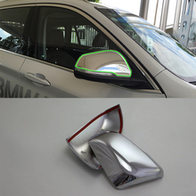 Car Accessories Exterior Decoration ABS Chrome Rearview Mirrors Cover For BMW X1 2016 Car-styling