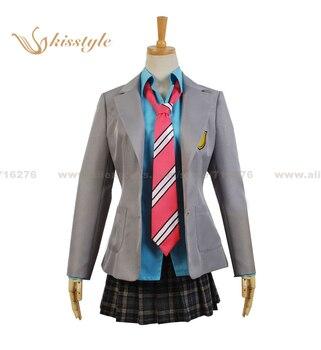 Moda kisstyle tu mentira en abril de Kaori Miyazono uniforme ropa cosplay