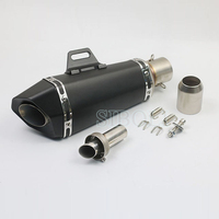 Inlet 51MM Motorcycle Exhaust Slip on GP Motorcross Pipe With Moveable DB Killer For Akrapovic Motorbike Exhaust Pipe