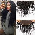 10A Pre Plucked Frontal Peruvian Deep Wave Ear To Ear Frontal 13x4 Bleached Knots Human Curly Hair Deep Wave Full Lace Frontal