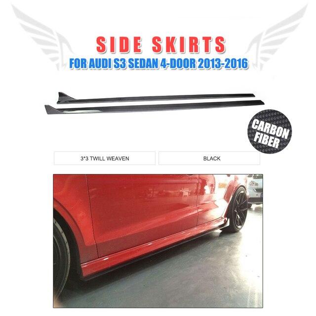 PCSSet Carbon Fiber JC Style Car Side Skirts Auto Body Aprons - Audi auto body