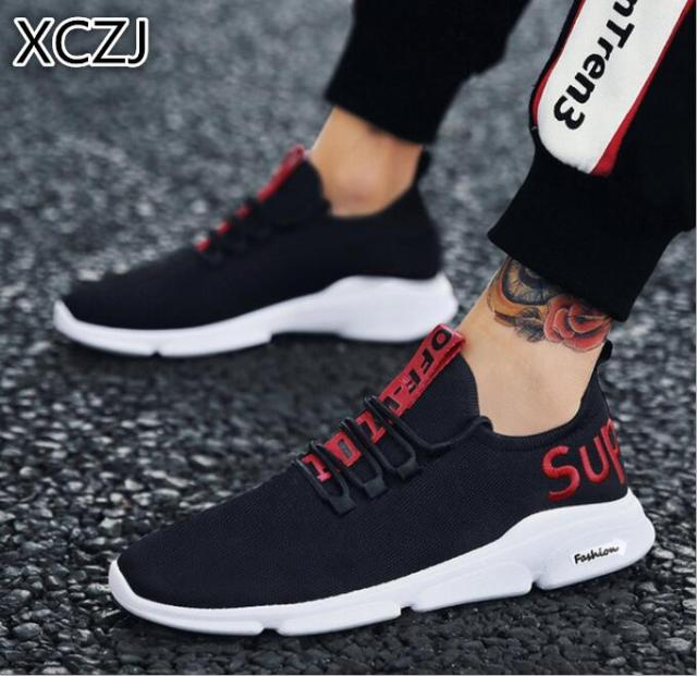 7a3261193b3 US $15.23 |XCZJ 2019 new men's shoes mesh sports running shoes tide shoes  breathable casual student shoes fashion shoes spring and autumn-in Men's ...