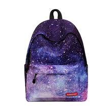 Women backpack for teenage girls Schools Bag Unisex Stars Universe Space Printing Canvas Female Backpacks for college students