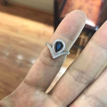925 Sterling Silver Ring Blue Sapphire Rings For Women Birthstone Gifts Emerald Ring Wedding Engagement Jewelry Gift manbu hot blue star enamel rings for women 925 sterling silver engagement wedding ring fashion gifts rings jewelry free shipping