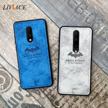 original relief deer cloth shockproof phone case on for oneplus 7 pro 6 5t 5 6t retro leather tpu back cover coque one plus