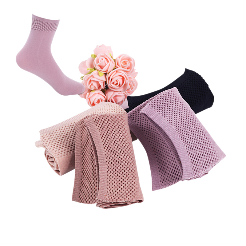 Autumn Winter High Elastic Velvet Nylon Socks For Women Skin Color Short Socks Anti-hook Wire Resistant To Wear 10pairs/lot