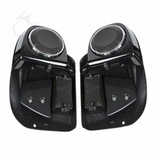 Haut parleur de moto avec couvercle de calandre, carénage de ventilation inférieure 6.5 pouces, avec couvercle de gril, pour Harley Touring Road King Street slide Road slide, 2014 2020