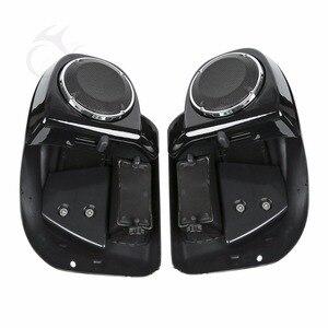 """Image 1 - Motocicleta inferior ventilado carenagem 6.5 """"alto falante com capa para harley touring road king glide rua glide estrada 2014 2020"""